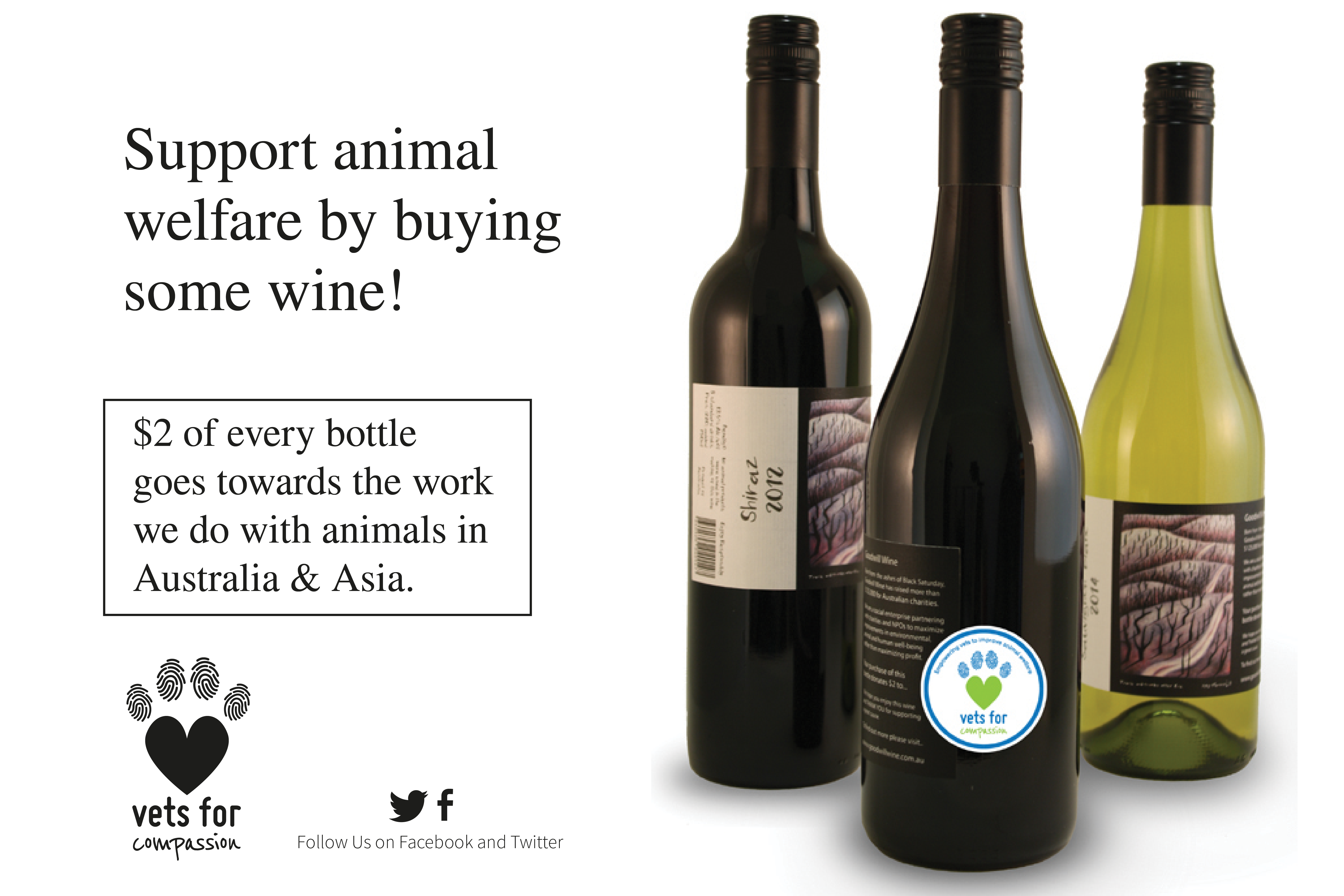 Buy Goodwill Wine & help Vets For Compassion