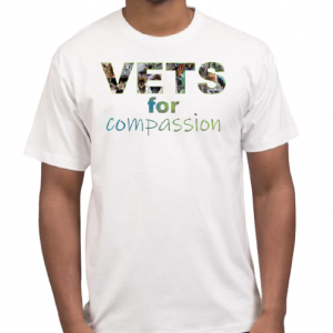 Vets For Compassion t-shirt men's white front